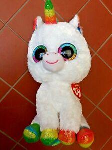 Ty Beanie Boos PIXY the unicorn MEDIUM 9 INCH NWT Approx 25 cm