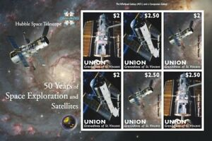 Union Island 2009 - Hubble Space Telescope Sheet of 6 Perforated Stamps MNH
