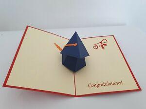 3d Popup Graduation Hat Card