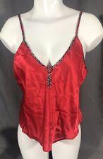 Vassarette Red Camisole Top Size Medium Short Nightie Top