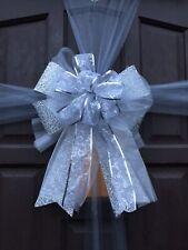 Christmas  Door Bow Celebration Wedding Baby Shower Glitter Silver Decoration
