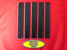 5 X Klebegewichte Schwarz 5x60g(12x5g) Alufelgen Kleberiegel Auswuchtgewichte
