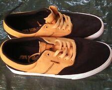 VTG Supra Vaider Black Gold White Skate Skateboard Shoes Sneakers Men's Size 10