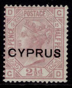 CYPRUS QV SG3, 2½d rosy mauve, UNUSED.