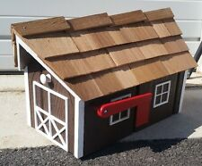 """Amish Crafted """"Milk Chocolate Brown"""" Barn Style Mailbox - Lancaster County PA"""