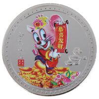 2020 Chinese Zodiac Rat Commemorative Coin Silver Plated Coins Art Souvenir EB