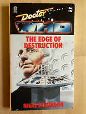 More details for doctor who: the edge of destruction by nigel robinson - rare target book - vgc