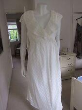 Size 8 ASOS MATERNITY CREAM CHIFFON DRESS MAXI WRAP FLOATY RETRO 60'S 70'S PARTY