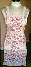 Floral Print Lined Apron With Two Front Pockets 100% Cotton One Size Fits Most