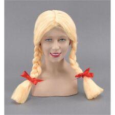 Blonde Ladies Pigtail Wig - Fancy Dress School Girl Britney Sexy Bunches Heidi