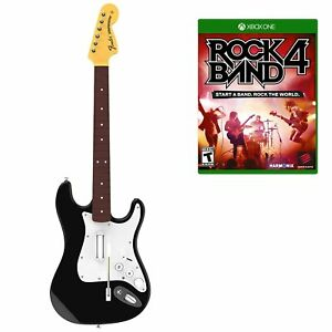 Xbox One Rock Band 4 Fender Stratocaster Wireless Guitar *Strap*Rock Band 4 Game