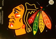 NEW NHL Chicago Blackhawks Window Car Auto Truck Decal Magnetic - Nice colors!