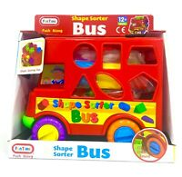 Shape Sorter Bus Learn as they Play Push Along Fun Time 12+ months Kids Educatio