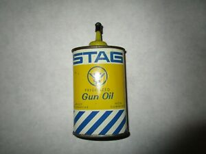 vintage STAG gun oil can, hunting, display