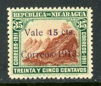 Nicaragua 1913 Gold Liberty 15¢/35¢   Sc 310 Mint W770