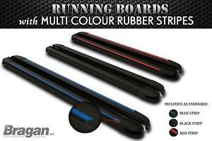 BLACK Running Boards For 2014+ Nissan NV300 LWB Aluminum Side Steps Multi Colour