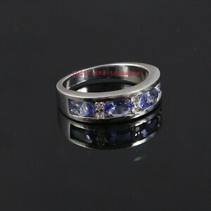 Natural Tanzanite Gemstones with 925 Sterling Silver Ring For Women's