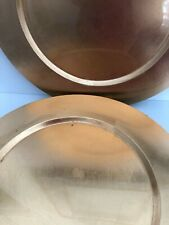 "Set of 4 Metallic GOLD Leaf LACQUER Round CHARGER PLATES 13"" Under Plate Holiday"
