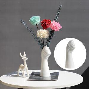 Handform Keramik Trockenvase Künstliche Blumen Topf 23,5 cm Dekoration