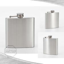Stainless Steel 7 10 oz Liquor Pocket Hip Flask Alcohol Whiskey Screw Cap Flagon