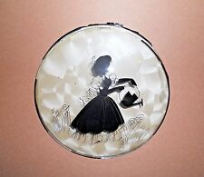 Peter Watson's Studio Reverse Hand Painted Lady Silhouette Watering Flowers