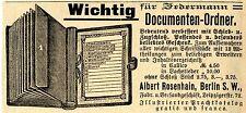 Albert Rosenhain Berlin DOCUMENTEN- ORDNER  Historische Reklame von 1895
