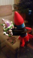 Buzz Lightyear On A Rocket Moving Talking Toy Disney Toy Story Character USED