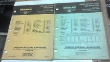 1984 DORMAN PRODUCTS Dealer Price List Sheet & Jobber Net Cost Sheet