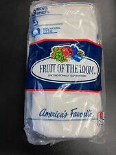 Vintage 80s Fruit of the Loom Underwear Briefs 3 Pack 32 Blue Yellow Stripe Med