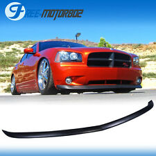 For 2006-2010 Dodge Charger OE Style Front Bumper Lip Unpainted Urethane Black