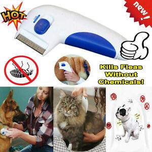 Flea Electric Pet Cat Dog Safe Flea Comb Kills Fleas Pet Supply VC