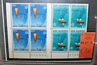 "SAN MARINO 1983 ""EUROPA CEPT"" NUOVI QUARTINA MNH** SET (CAT.9)"