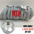 10X Bulk Lot Fast Charger Cable 3/6FT For Apple iPhone 11 8 7 6 XS Charging Cord