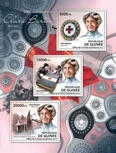 Guinea Bissau MNH SS, 100th Anniversary of Clara Barton  Red Cross