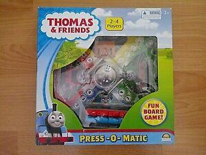 Thomas & Friends Press -O- Matic Board Game - 2011 - Complete