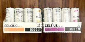 CELSIUS Sparkling Fitness Drink, Zero Sugar, 12oz. Slim Can, Pack of 12, Various