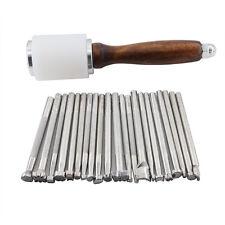 21pcs Leather Carving Working Saddle Making Tools Set Hammer  Handcraft DIY