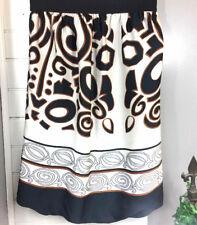 Zara Basic Womens Skirt sz S black tan white balloon bubble Modern Career I25