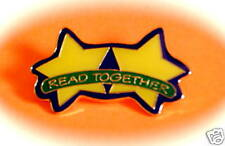 """""""READ TOGETHER"""" Lapel Pins,  Wholesale lot 25-NEW LINE!"""