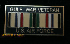 GULF WAR VETERAN US AIR FORCE LAPEL HAT PIN USAF AFB B2 C130 F15 F16 B-52 F22