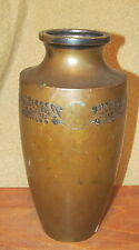 Antique Japanese Mixed Metal Bronze Vase As-Is Signed