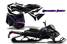 SKI-DOO REV XM SUMMIT SNOWMOBILE CREATORX GRAPHICS KIT DRAGON FURY PURPLE BLACK