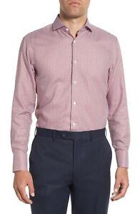 BNWT HUGO BOSS Mark Houndstooth Sharp Fit Dress Shirt MSRP $138!!!