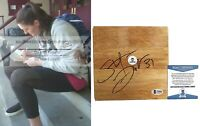 Stefanie Dolson UConn Huskies Autograph Signed Basketball Floor Board Beckett