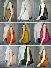 ♥ Schultertasche Ledertasche Beutel ECHT LEDER Italy Shopper HOBO Handtasche T9