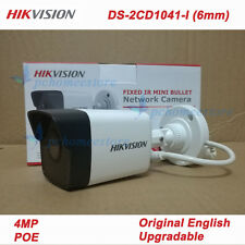 Original English Hikvision Ds-2Cd1041-I (6mm) 4Mp Cmos Poe Network Bullet Camera