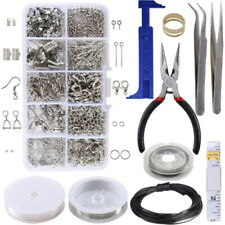 Findings Threads Pliers Silver Beads Wire Starter Tool Jewellery Making Set Kit