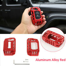 Alloy Key Case Cover Shell Protector Accessories For Jeep Wrangler Jl Jt 2018+ (Fits: Jeep)