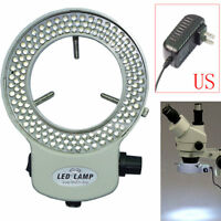 Adjustable 144 LED Bulb Microscope Ring Light Illuminator Lamp US/UK/EU/AU Plug