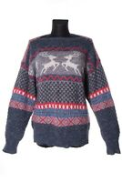 Women's BOGNER Vintage Fair Isle Alpaca Wool Crew Neck Sweater Size 36